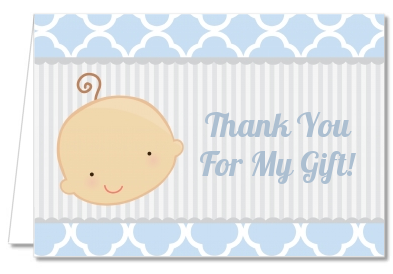 Gender Reveal - Boy - Baby Shower Thank You Cards