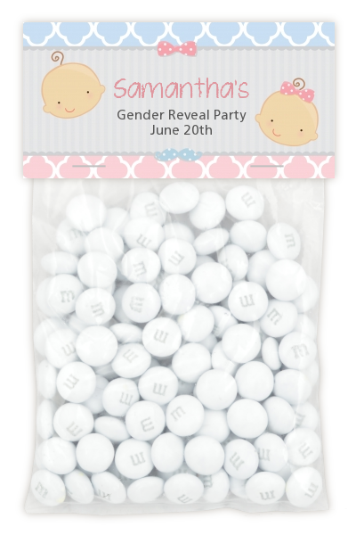Gender Reveal - Custom Baby Shower Treat Bag Topper