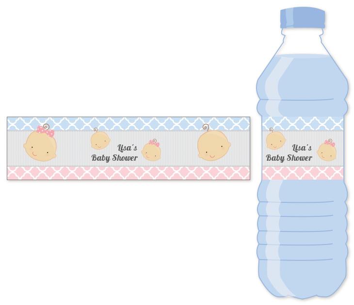 Gender Reveal Water Bottle Label