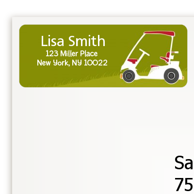 Golf Cart - Birthday Party Return Address Labels