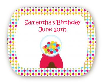 Gumball - Personalized Birthday Party Rounded Corner Stickers