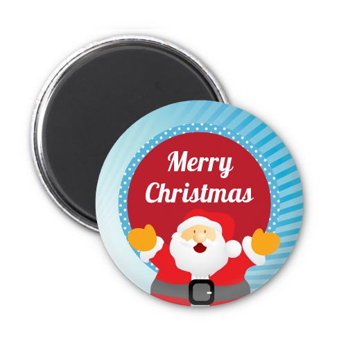 Ho santa claus personalized christmas magnet favors