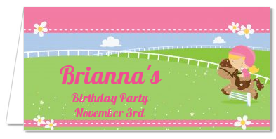 Horseback Riding - Personalized Birthday Party Place Cards