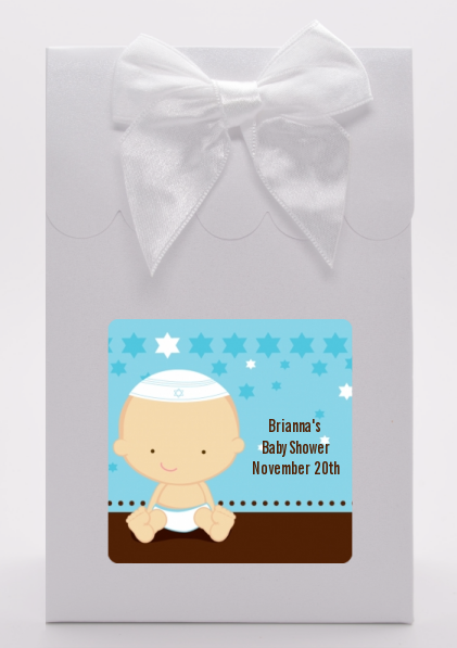 jewish baby boy baby shower goodie bags candles favors