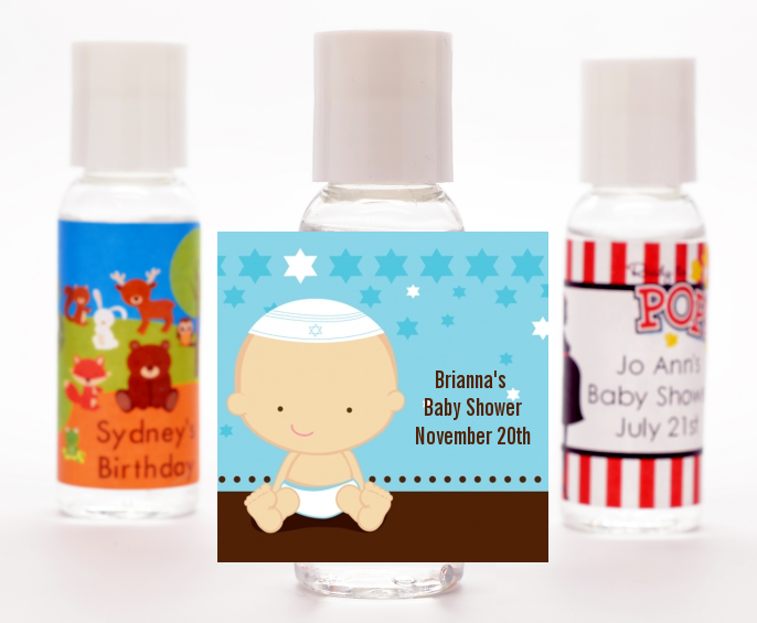 jewish baby boy personalized baby shower hand sanitizers favors