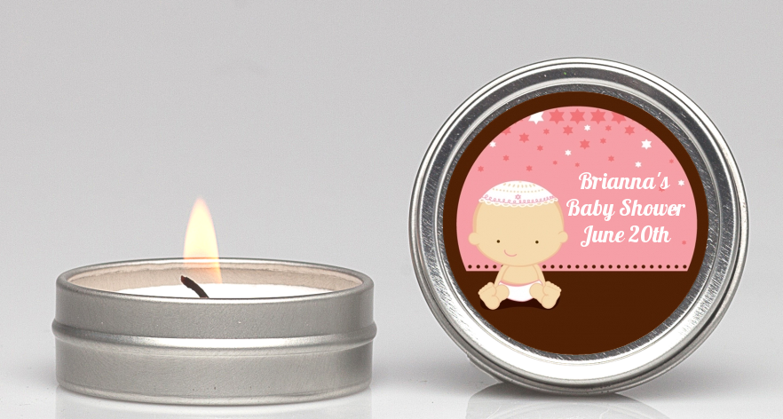 jewish baby girl baby shower candle favors