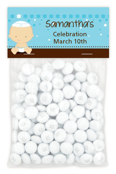 Jewish Baby Boy - Custom Bar / Bat Mitzvah Treat Bag Topper