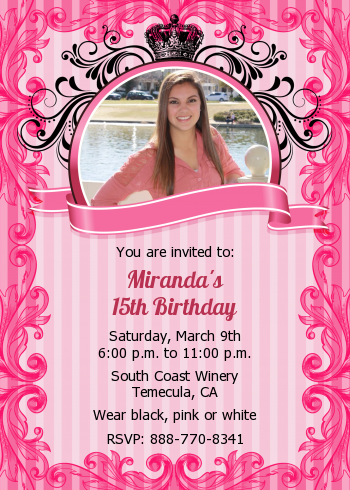 Juicy Couture Inspired Birthday Party Invitations Candles And Favors