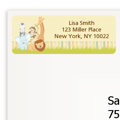 Jungle Safari Party - Baby Shower Return Address Labels