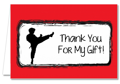 Karate Kid - Birthday Party Thank You Cards