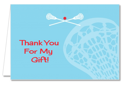 Lacrosse - Baby Shower Thank You Cards