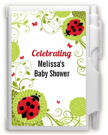 ladybug notebook favor baby shower notebook favors