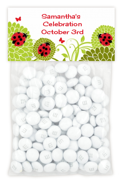 Ladybug - Custom Baby Shower Treat Bag Topper