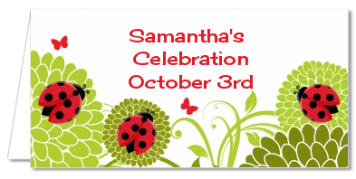 Ladybug - Personalized Baby Shower Place Cards