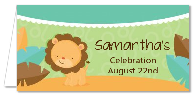 Lion | Leo Horoscope - Personalized Baby Shower Place Cards