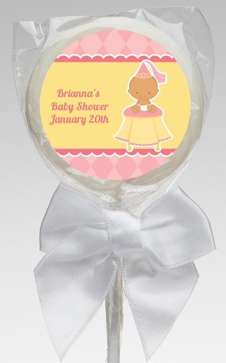 little princess hispanic baby shower lollipop favors little princess