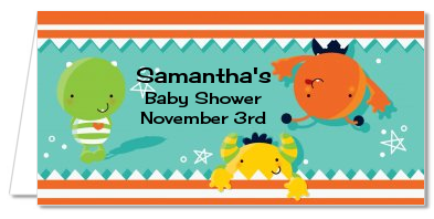 Little Monster - Personalized Baby Shower Place Cards