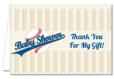 baseball thank you cards