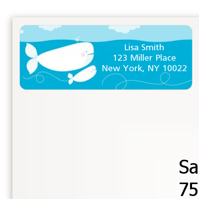 Little Squirt Whale - Baby Shower Return Address Labels