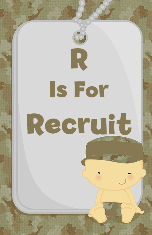 Camo Military - Personalized Baby Shower Nursery Wall Art Caucasian