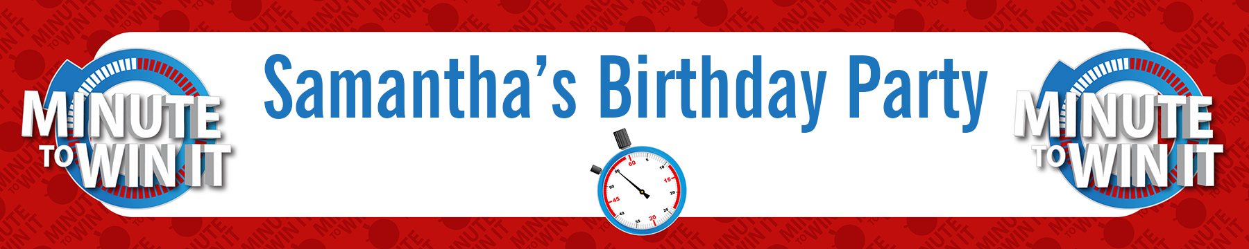 Minute To Win It Inspired - Personalized Birthday Party Banners thumbnail