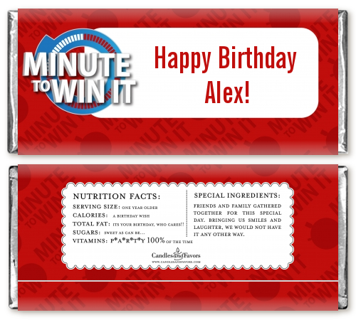 Minute To Win It Inspired Birthday Party Candy Bar ...