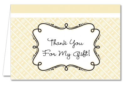 Modern Thatch Cream - Personalized Everyday Party Thank You Cards