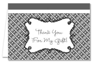 Modern Thatch Grey - Personalized Everyday Party Thank You Cards