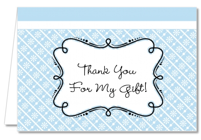 Modern Thatch Light Blue - Personalized Everyday Party Thank You Cards
