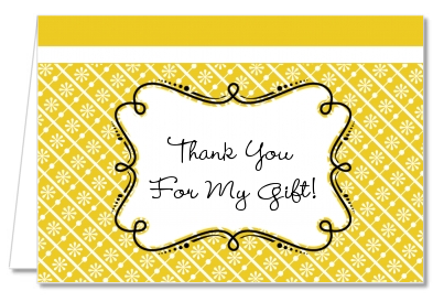 Modern Thatch Yellow - Personalized Everyday Party Thank You Cards