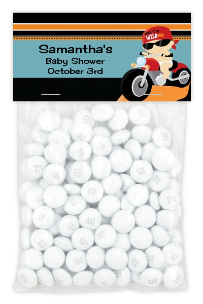 Motorcycle Baby - Custom Baby Shower Treat Bag Topper