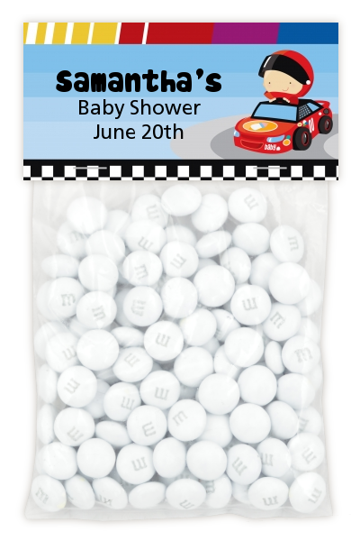 Nascar Inspired Racing - Custom Baby Shower Treat Bag Topper