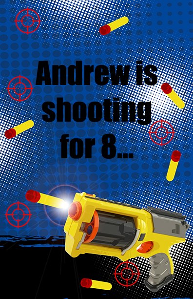 Nerf Gun Birthday Party Wall Art Birthday Party Posters