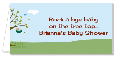 Nursery Rhyme - Rock a Bye Baby - Personalized Baby Shower Place Cards