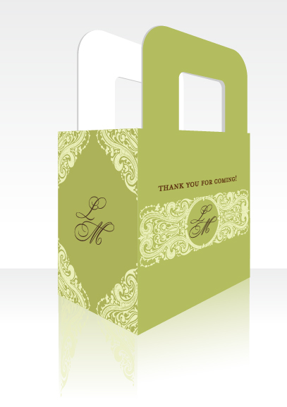 Sage Green - Personalized Bridal Shower Favor Boxes