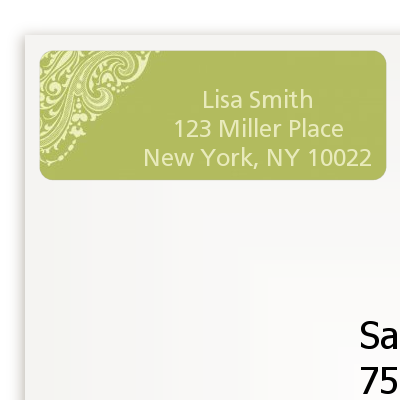 Sage Green - Bridal Shower Return Address Labels