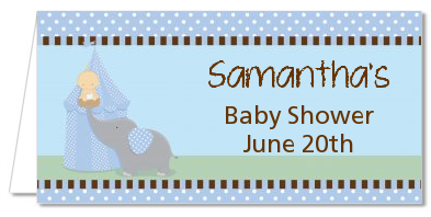 Our Little Peanut Boy - Personalized Baby Shower Place Cards