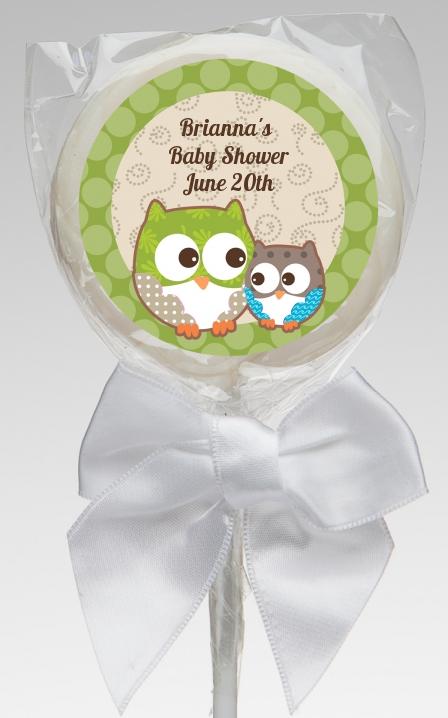 owl look whooo 39 s having a baby baby shower lollipop favors owl