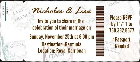passport bridal shower destination boarding pass invitations