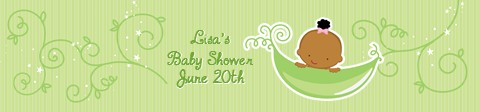 Sweet Pea African American Boy - Personalized Baby Shower Banners African American Boy