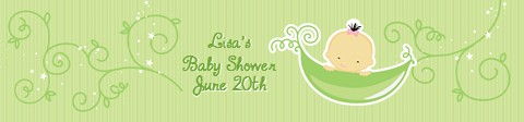 Sweet Pea Asian Boy - Personalized Baby Shower Banners Asian Boy