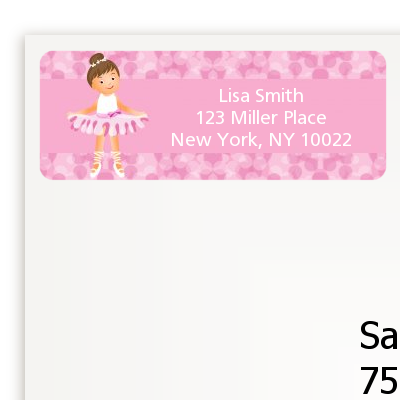 Ballet Dancer - Birthday Party Return Address Labels