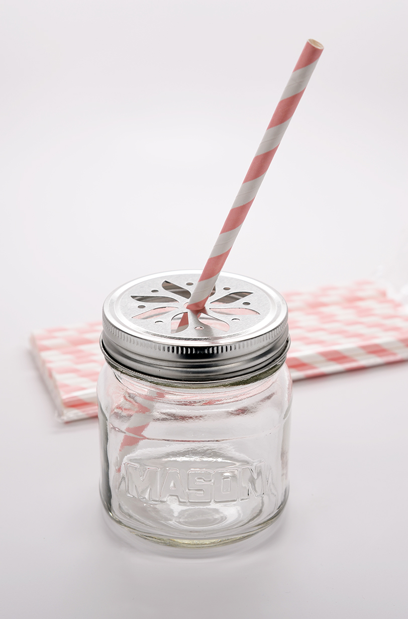 Pink Stripe - Baby Shower Decorative Paper Straws
