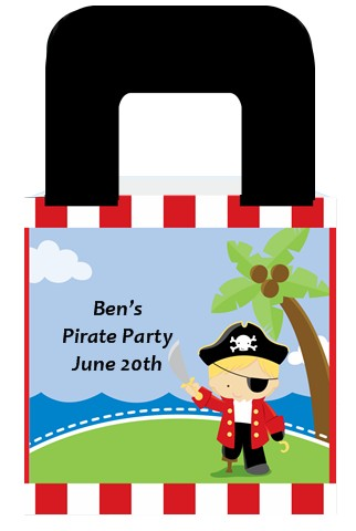 Pirate - Personalized Birthday Party Favor Boxes