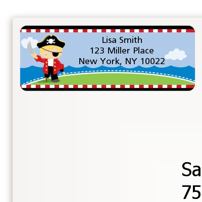 Pirate - Birthday Party Return Address Labels