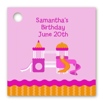 Playground Girl - Personalized Birthday Party Card Stock Favor Tags