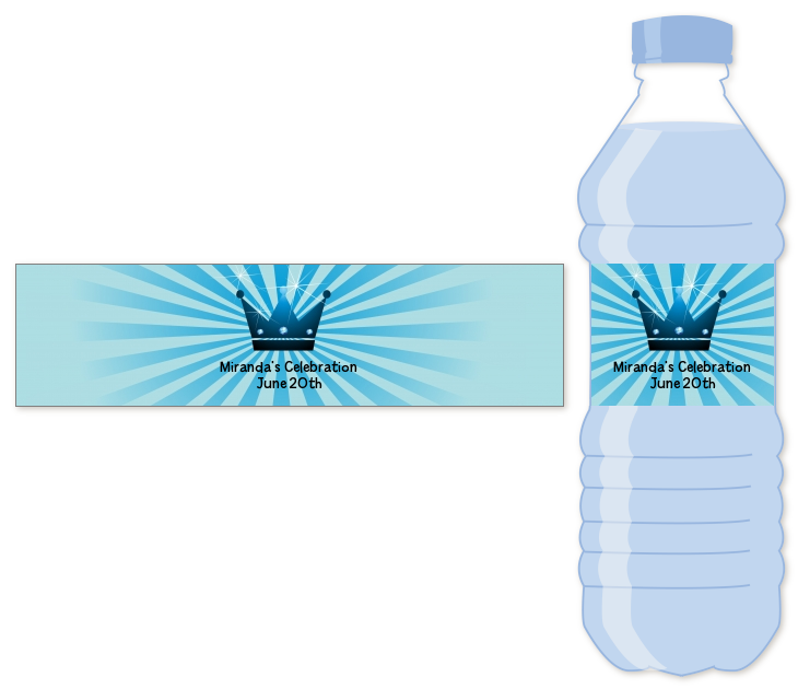 Prince Royal Crown Water Bottle Label | Baby Shower Water ...