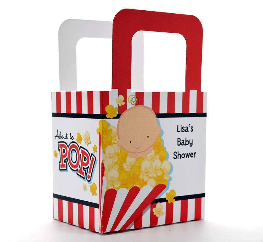 About To Pop - Personalized Baby Shower Favor Boxes
