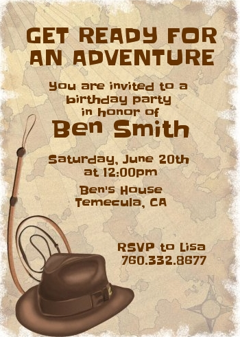 Adventure Birthday Party Invitations | Candles and Favors