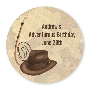 Adventure - Round Personalized Birthday Party Sticker Labels
